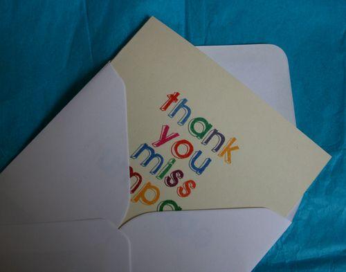 Thankyou card